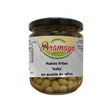 Habas Mini Babi Fritas en Aceite de Oliva tarro B250